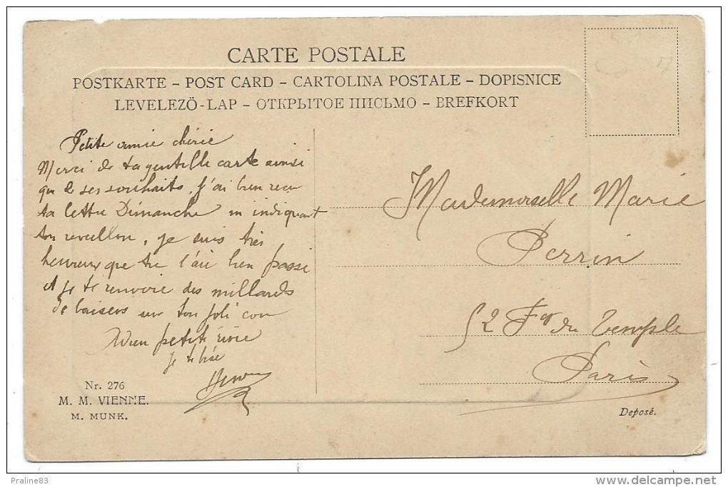 CPA - BELLE JEUNE FEMME AVEC BOUQUETS DE FLEURS ET PAPILLONS - Circulé 1906 - Femmes