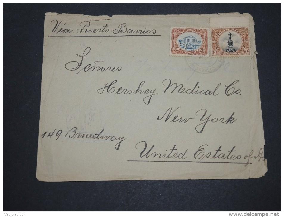 GUATEMALA - Enveloppe Pour Les Etats Unis En 1916 Via Puerto Barrios - A Voir - L  4103 - Guatemala