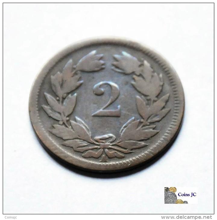 Suiza - 2 Rappen - 1851 - Suiza