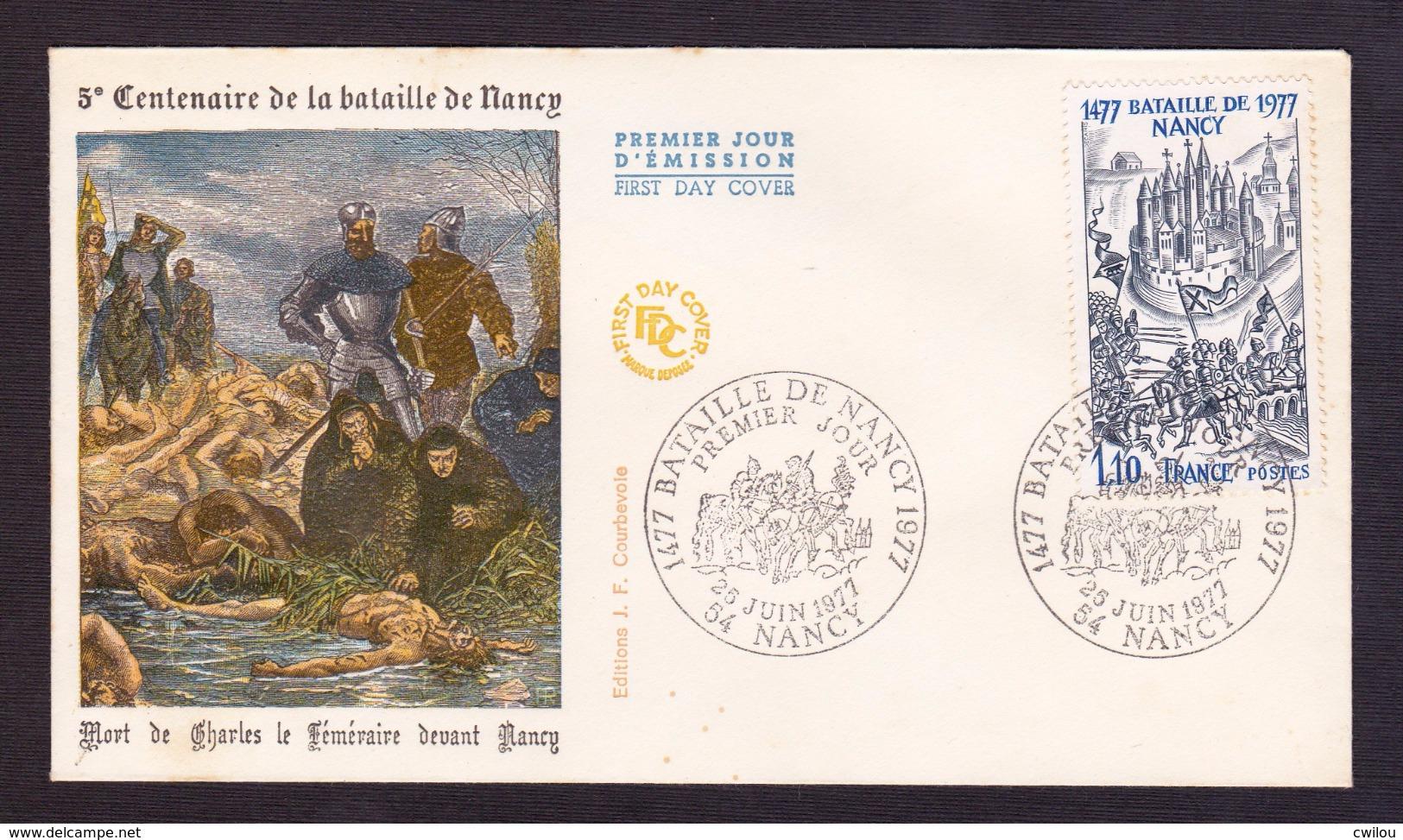 ENVELOPPE PREMIER JOUR - CENTENAIRE DE LA BATAILLE DE NANCY - 25 JUIN 1977 - FDC