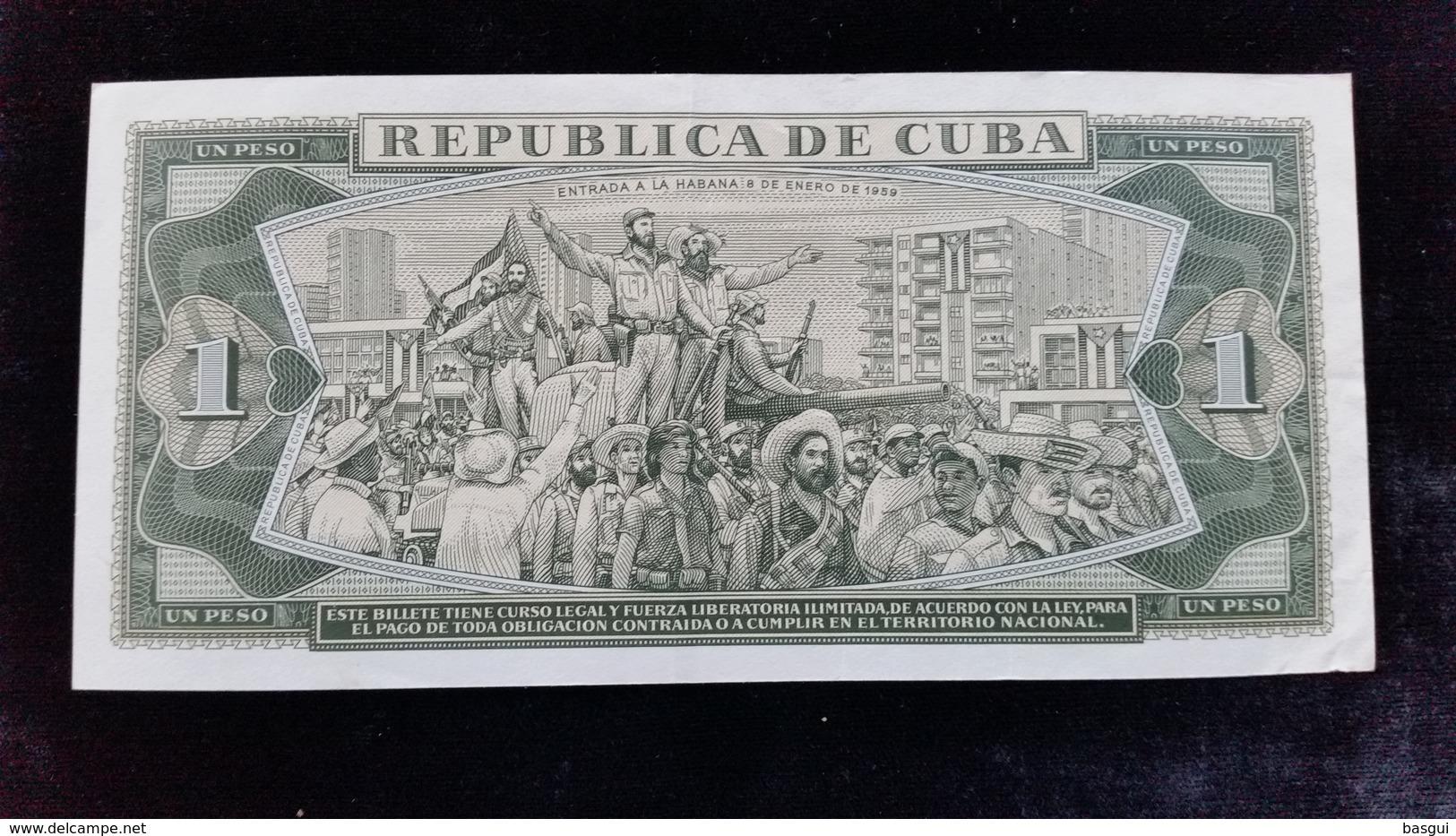 Billet De 1 Peso 1972 Cuba - Cuba