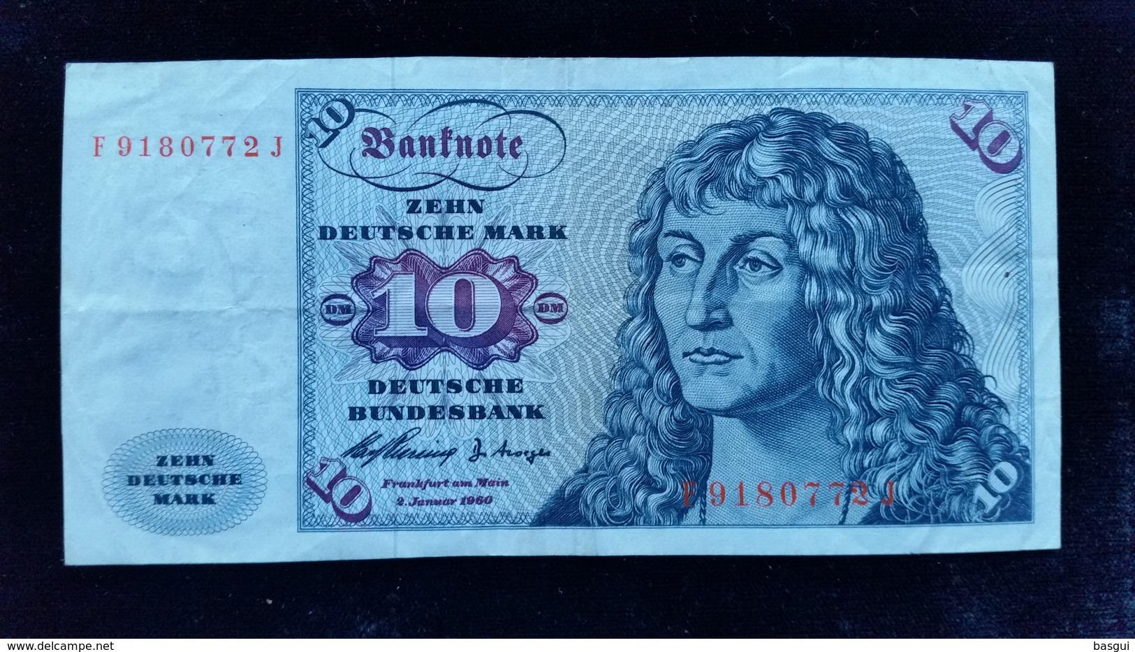 Billet De 10 Mark 1960 - [ 7] 1949-… : RFA - Rep. Fed. Tedesca
