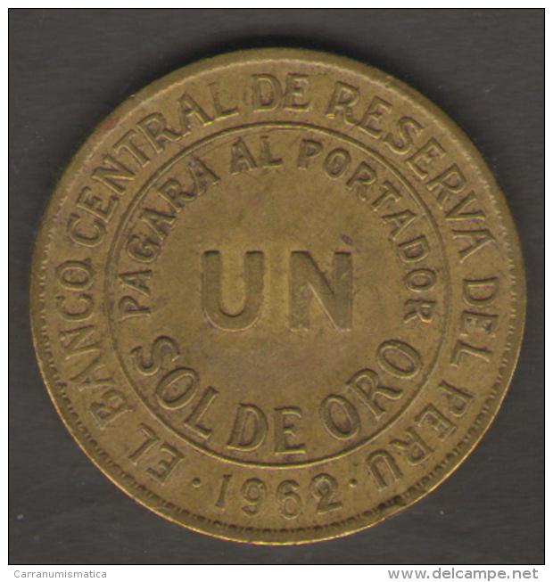 PERU 1 SOL DE ORO 1962 - Perú