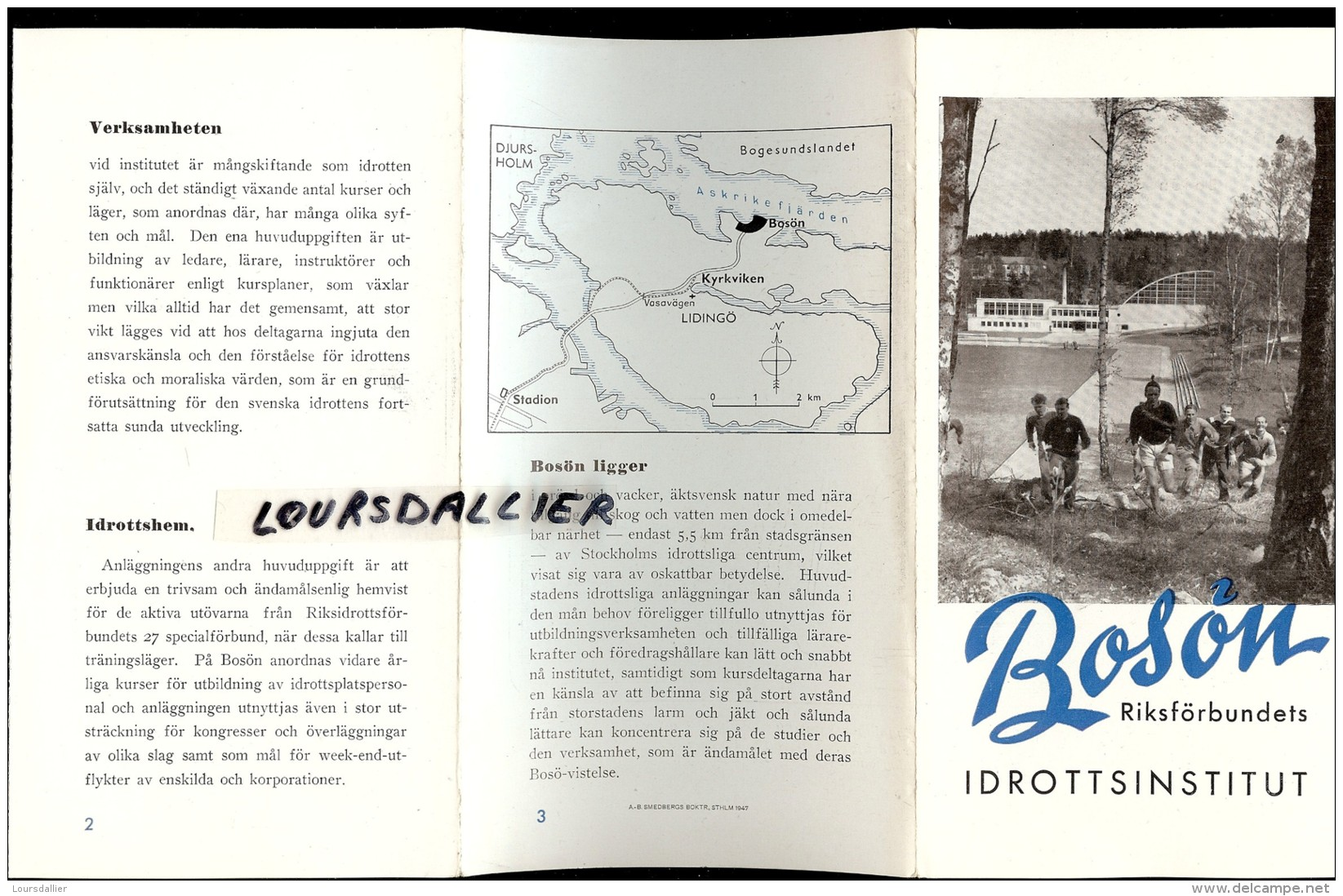 SUEDE BOSON Institut Des Sport 1952 Idrottsinstitut 1952 - Scandinavian Languages