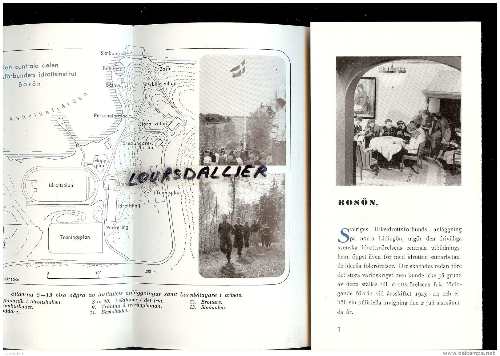 SUEDE BOSON Institut Des Sport 1952 Idrottsinstitut 1952 - Books, Magazines, Comics