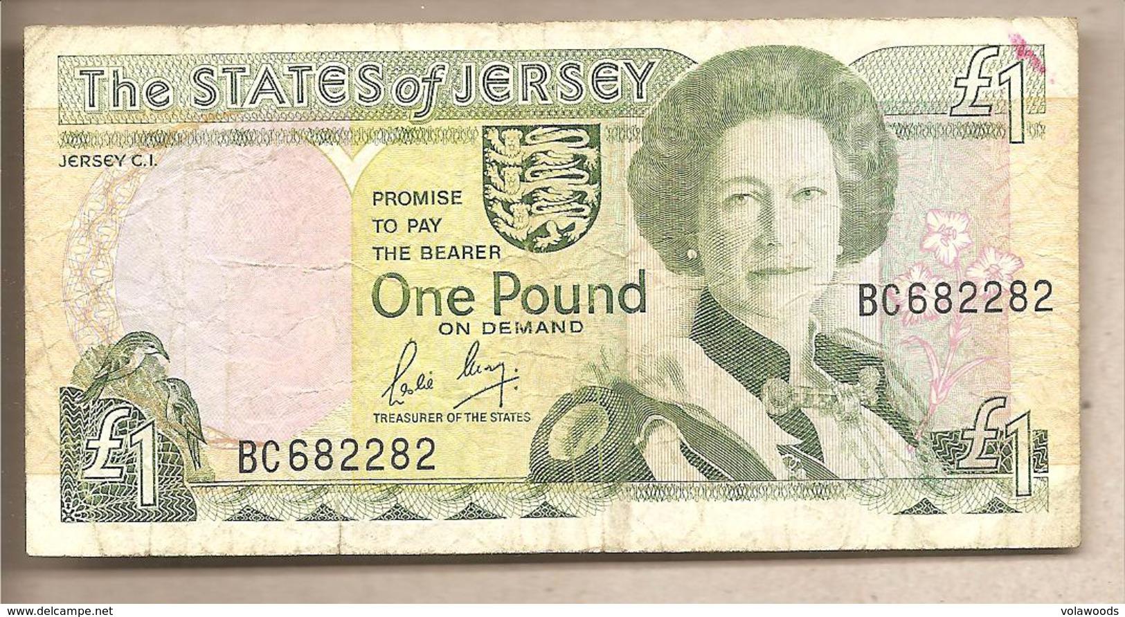 Jersey - Banconota Circolata Da 1 Sterlina - 1989 - Jersey