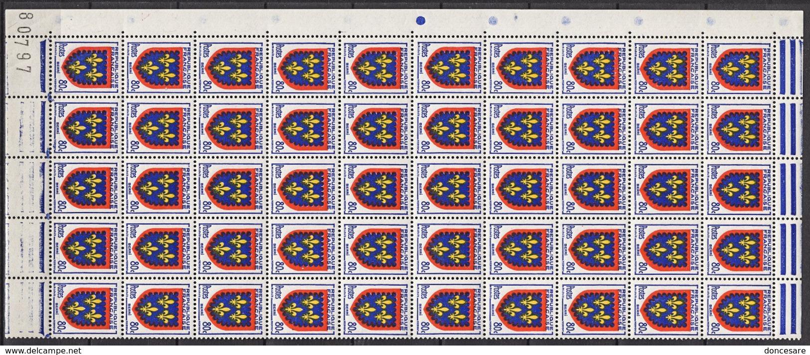 FRANCE 1953 - BLOC DE 50 Y.T. N° 959  - NEUFS** 66 - Ongebruikt