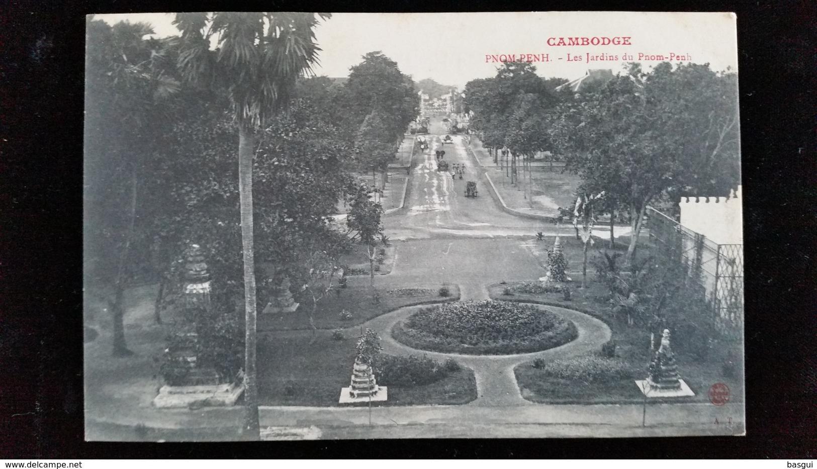 CPA  Cambodge, Phnom, Pnom Penh Jardins - Cambodge