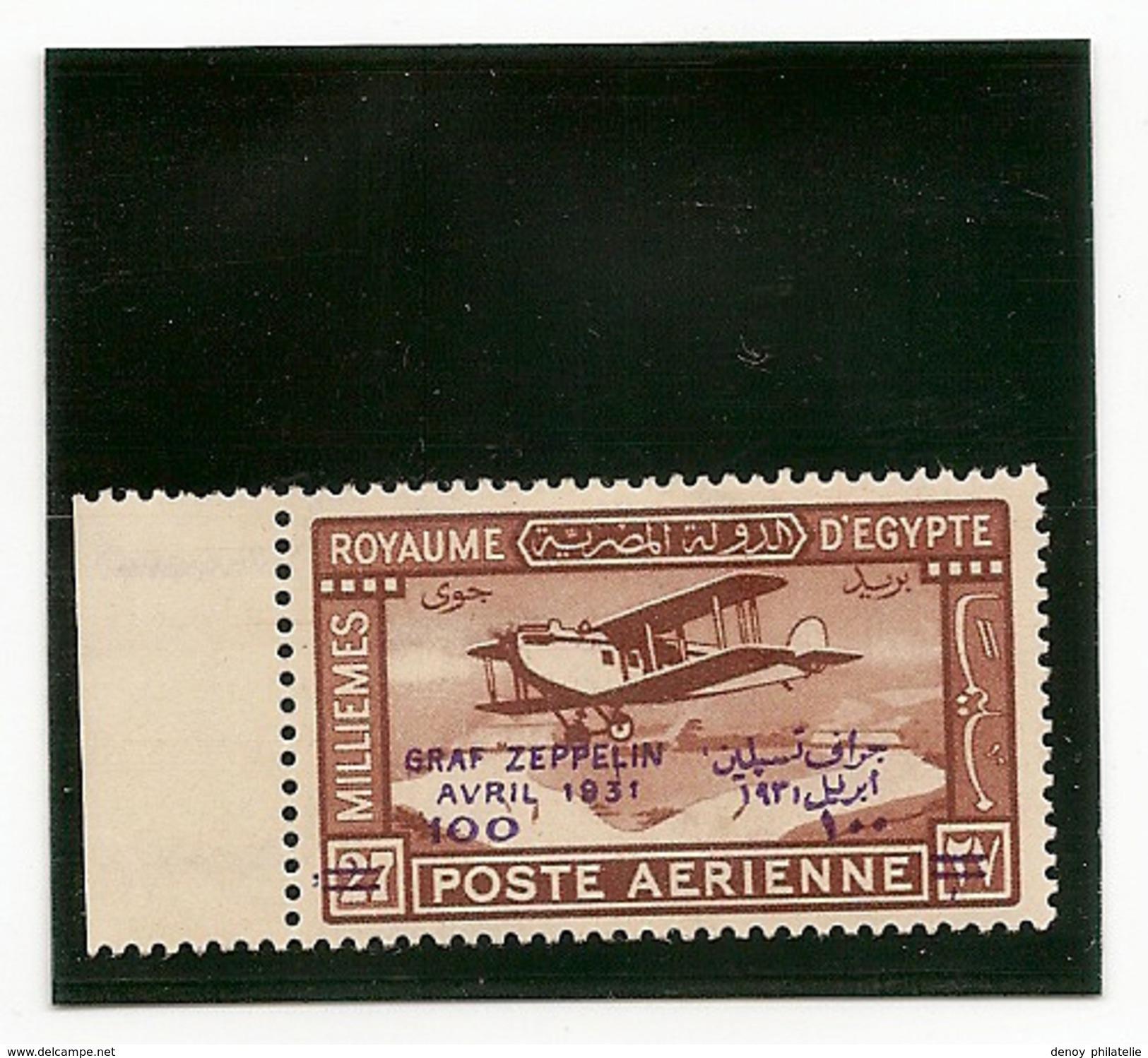 Egypte PA N° 3 Et 4 Avec Charniére* ( Zeppelibn ) Fraicheur Postale - Posta Aerea
