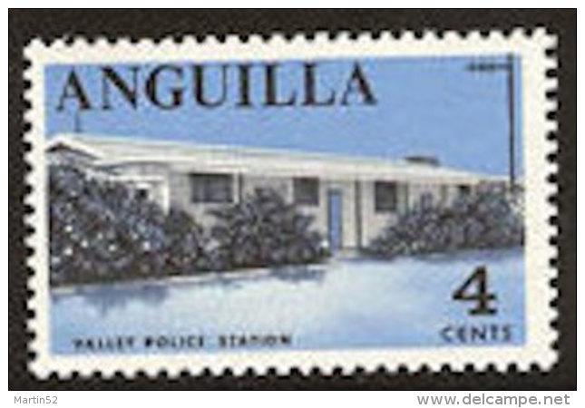 Anguilla 1968: Michel-No. 20 ** MNH (aus Satz 17-31) Valley Police Station - Police - Gendarmerie