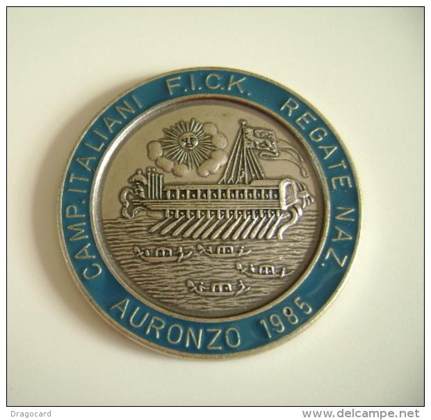 Auronzo  1985  Fick  Campionati Italiani   SPORT CANOTTAGGIO CANOA REGATA REMI MEDAGLIA  MEDAL - Remo