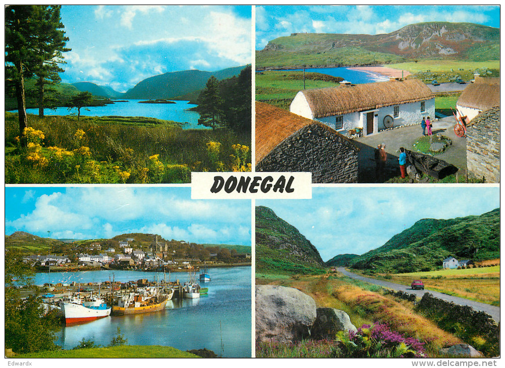 Multiview, Donegal, Ireland Postcard Unposted - Donegal
