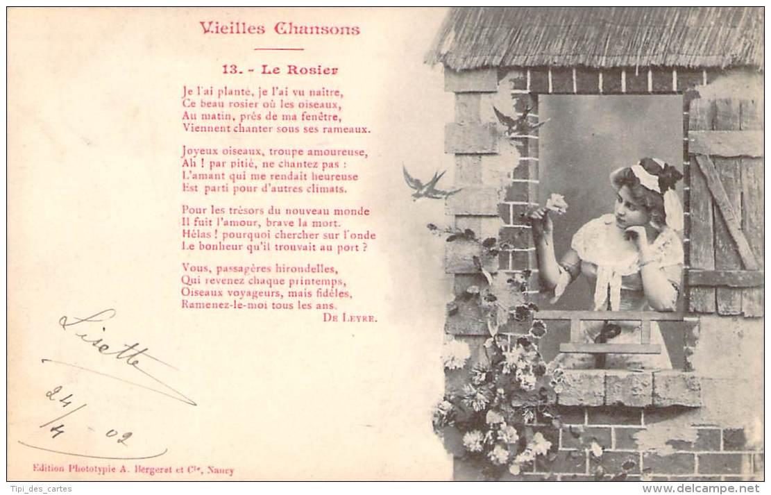 Illustrateur Photographe - Bergeret - Vieilles Chansons, Le Rosier - Bergeret