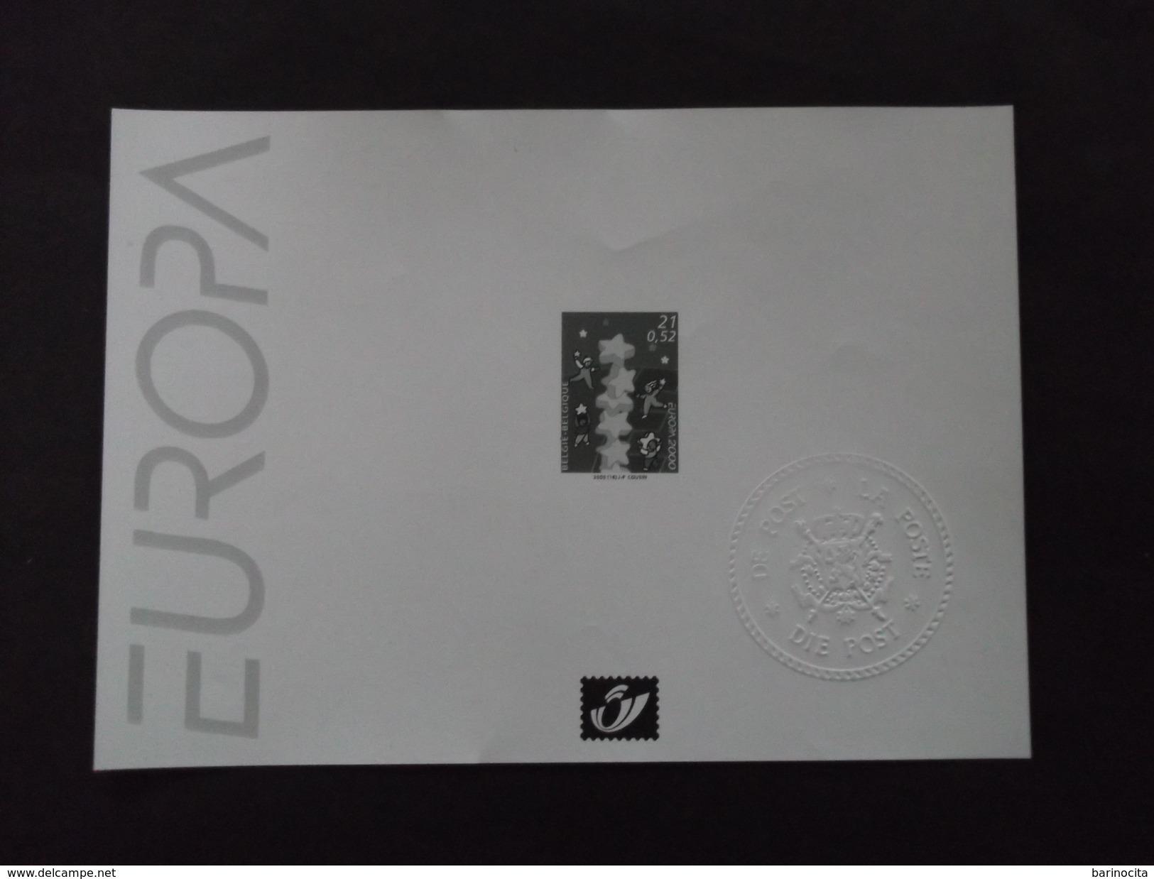 "BELGIQUE - BLOCS FEUILLETS  NOIR /BLANC N° 2922   "" Europa Cept   ""  Neuf  - Annee 2000 - Voir Photo ( 6 ) - Feuillets Noir & Blanc"