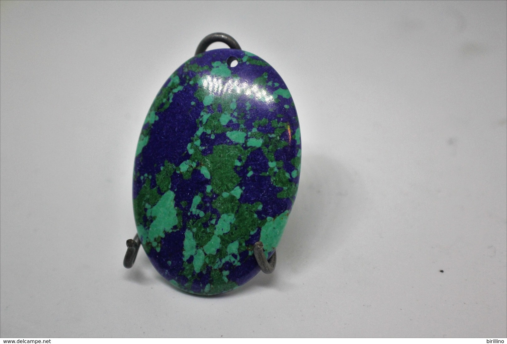 388 - Turchese - Pendente A Forma Ovale Verde E Blu - Turkoois