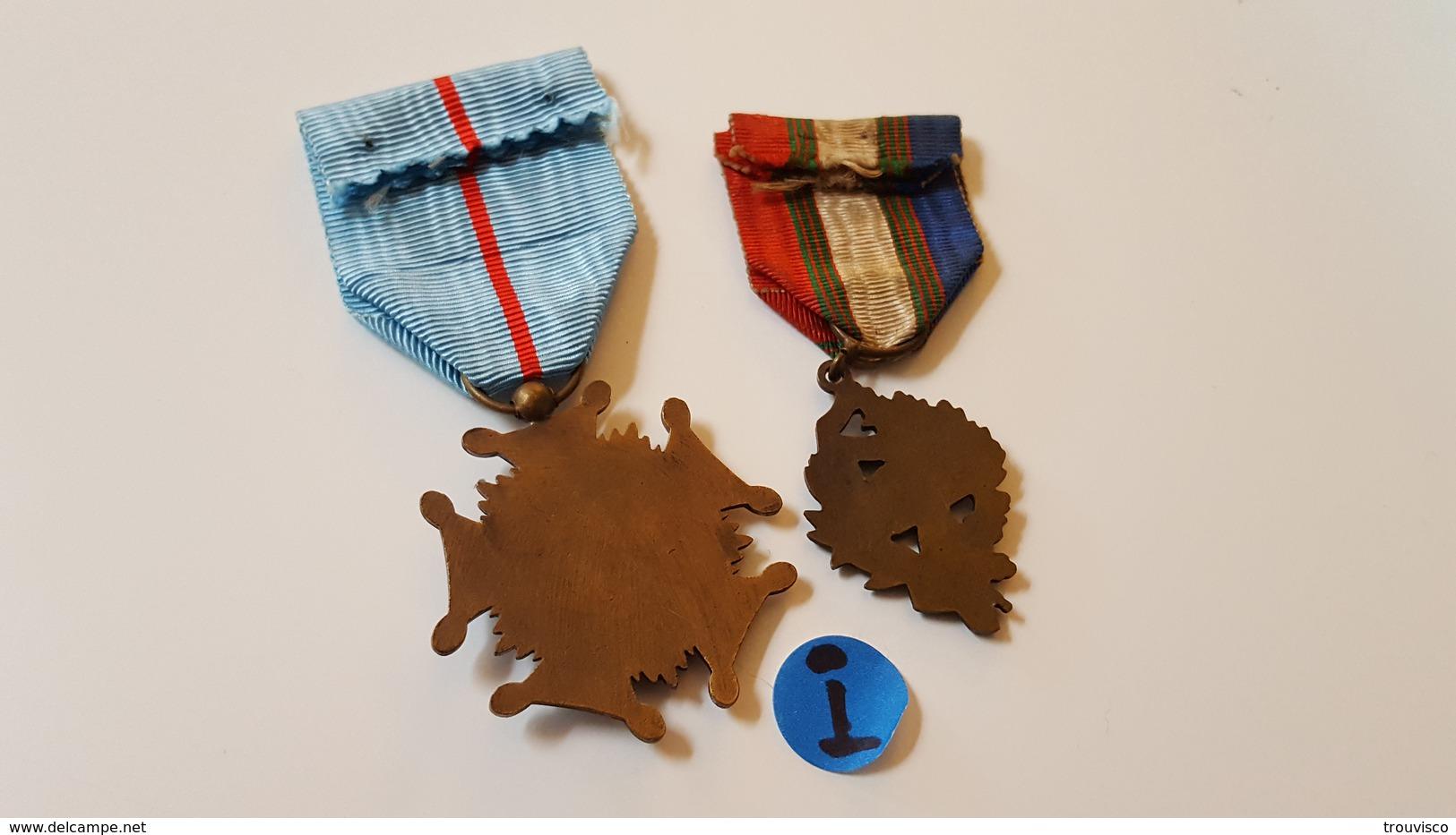 2 MÉDAILLES . U.N.C  Et ORDRE DE LA COURTOISIE FRANÇAISE . - Army & War
