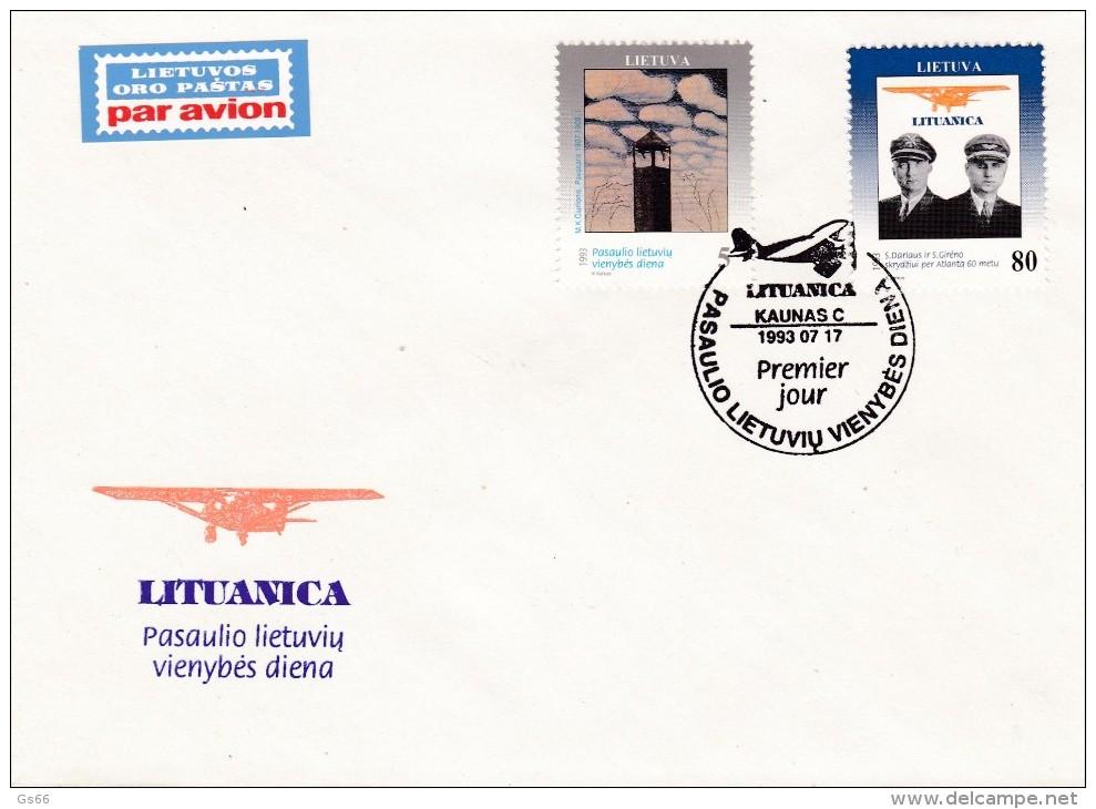 Litauen, 1993, 528/30, Tag Der Einheit. MNH ** FDC - Lithuania
