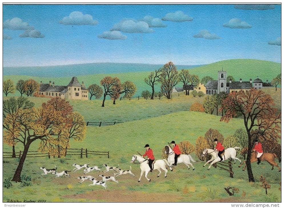 AK Felizitas Kastner: Jagd In Yorkshire - Karte Gebr, - Malerei & Gemälde