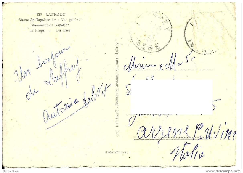 ISERE  LAFFREY  Souvenir De..  Monument De Napoleon Le Lac Et Les Hotel - Laffrey