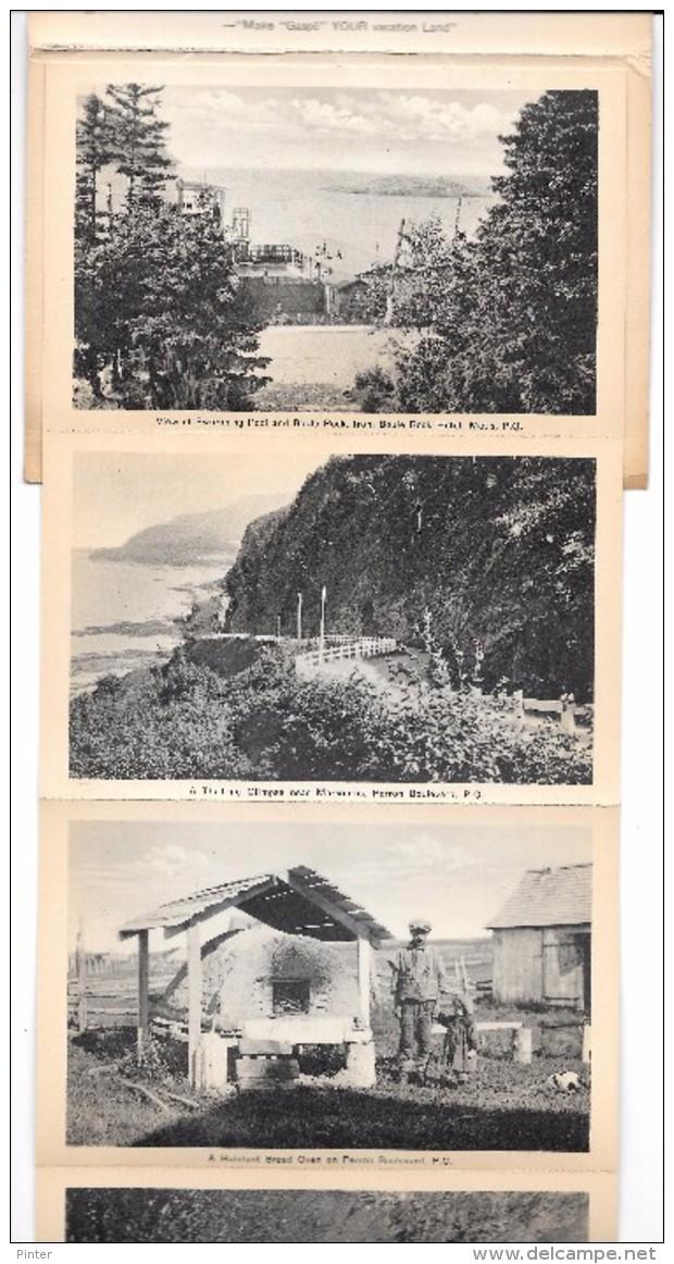 QUEBEC - GASPE - PERRON BOULEVARD - Dépliant De 18 Vues - Quebec