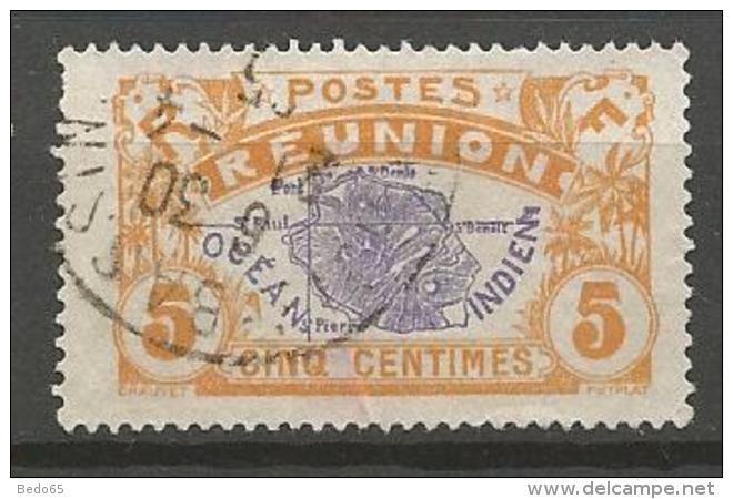 REUNION N° 84  OBL CACHET DES TROIS-BASSINS TB - Réunion (1852-1975)
