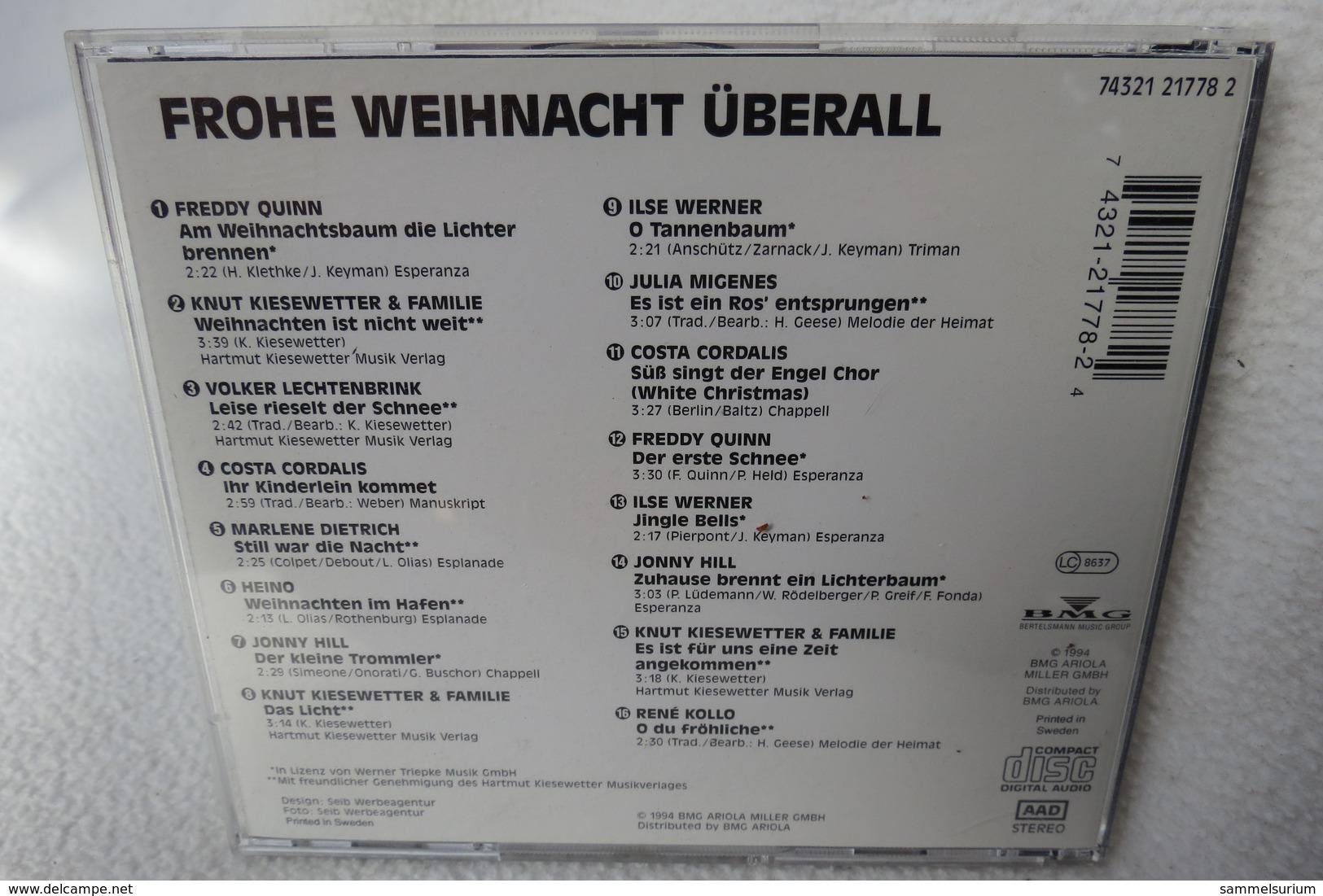 """CD """"Frohe Weihnacht überall"""" Div. Interpreten - Weihnachtslieder"""