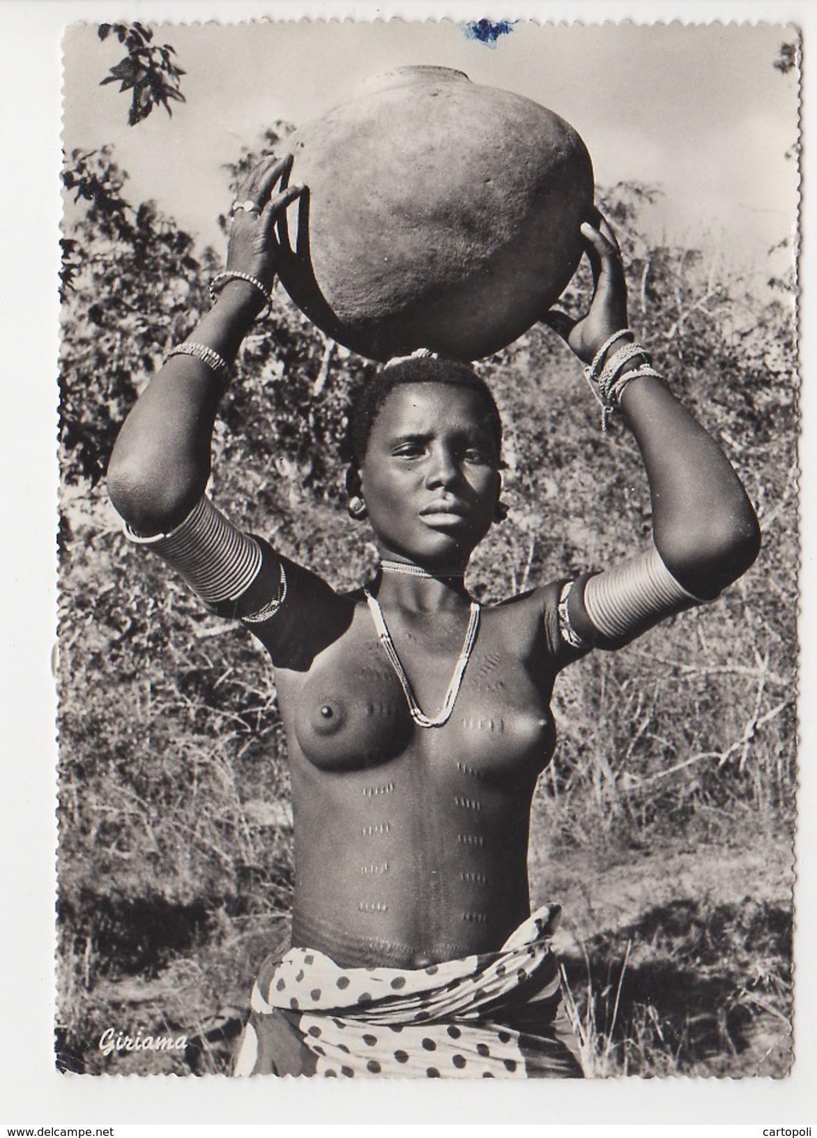 ^ GIRIAMA EST EAST AFRICA NUDO SENO DONNA NUDA SEXY 325 - Non Classés