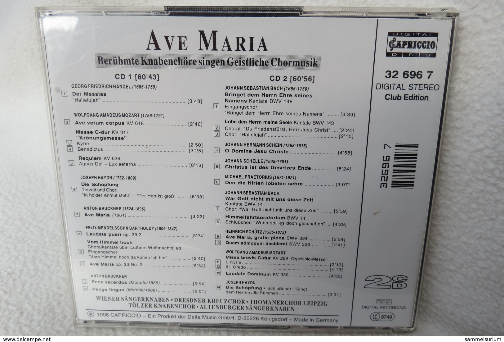 "2 CDs ""Ave Maria"" Berühmte Knabenchöre Singen Geistliche Chormusik - Gospel & Religiöser Gesang"