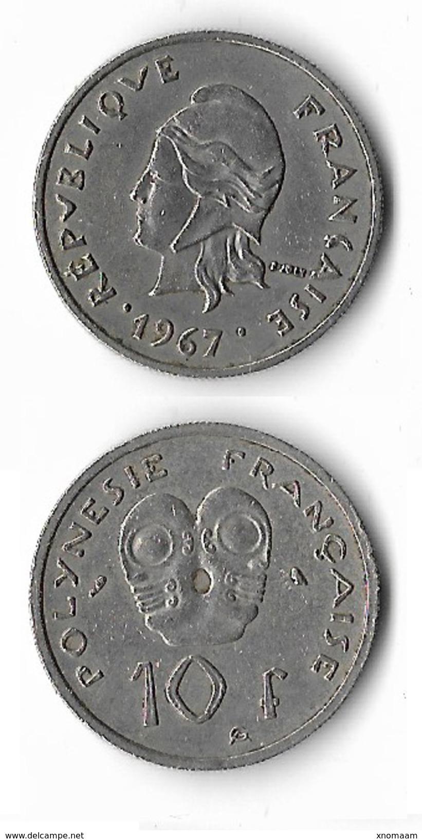 Polynésie Française - 10 Francs 1967 - Monnaies