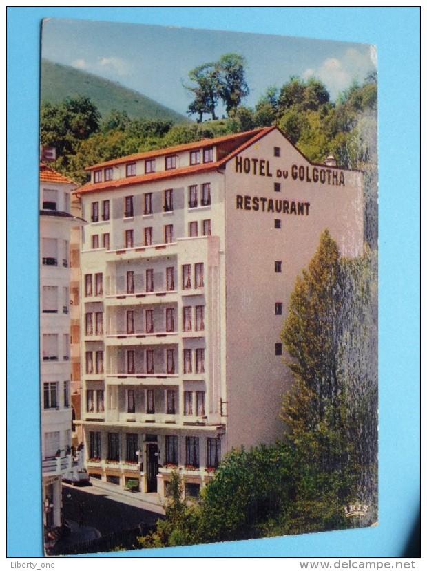 Hotel Du GOLGOTHA Restaurant - Lourdes () Anno 1972 ( Zie Foto Voor Details ) !! - Hotels & Restaurants