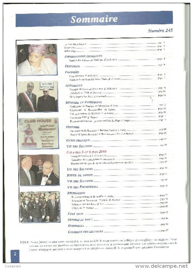 Journal Des Enfants De Troupe AET 245, Cyril Berquet, Mariama Diallo, Camerone, Paulhac, Rambouillet, Le Page, Vinet, - Geschiedenis