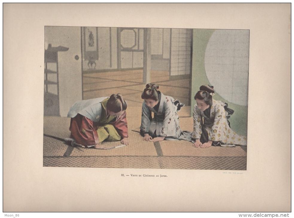 JAPON  - 8 AQUARELLES -   Fascicule N°1 COMPLET -  AUTOUR DU MONDE -  MOEURS ET USAGES - Books, Magazines, Comics