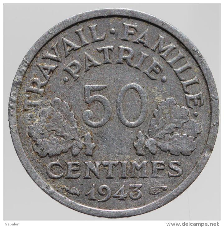 Bazor - 50 Centimes, 1943 B, Rare ! - G. 50 Centimes
