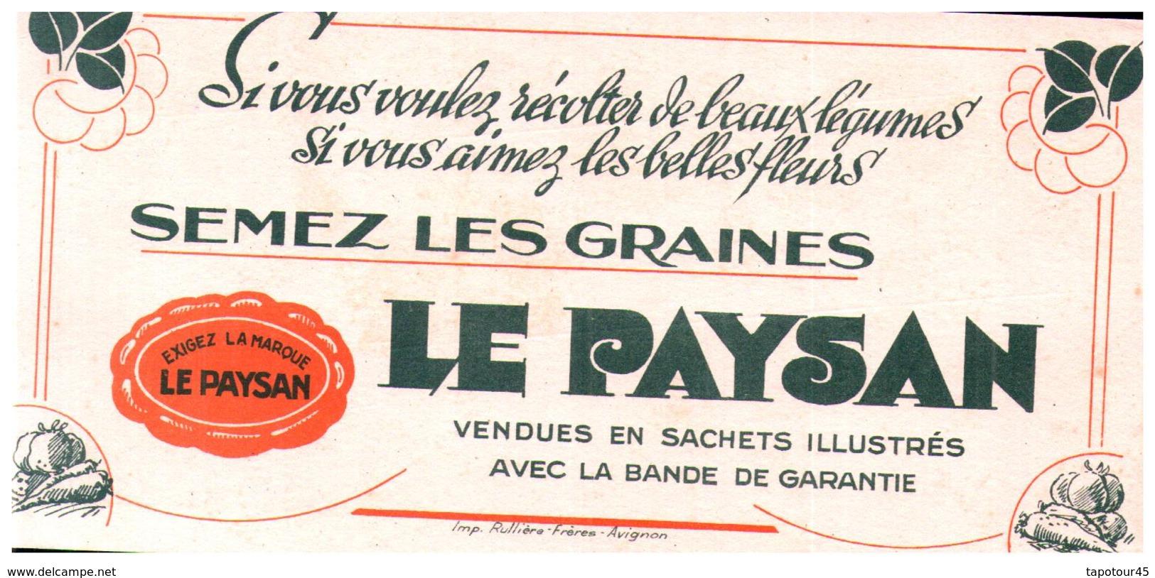 Gr/Buvard   Graines Le Paysan (N= 1) - Agriculture