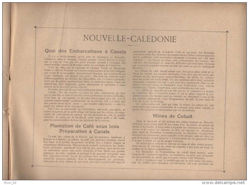 NOUVELLE CALEDONIE  - 8 AQUARELLES - Fascicule LXVII COMPLET -  AUTOUR DU MONDE - SITES - MOEURS ET USAGES - Books, Magazines, Comics