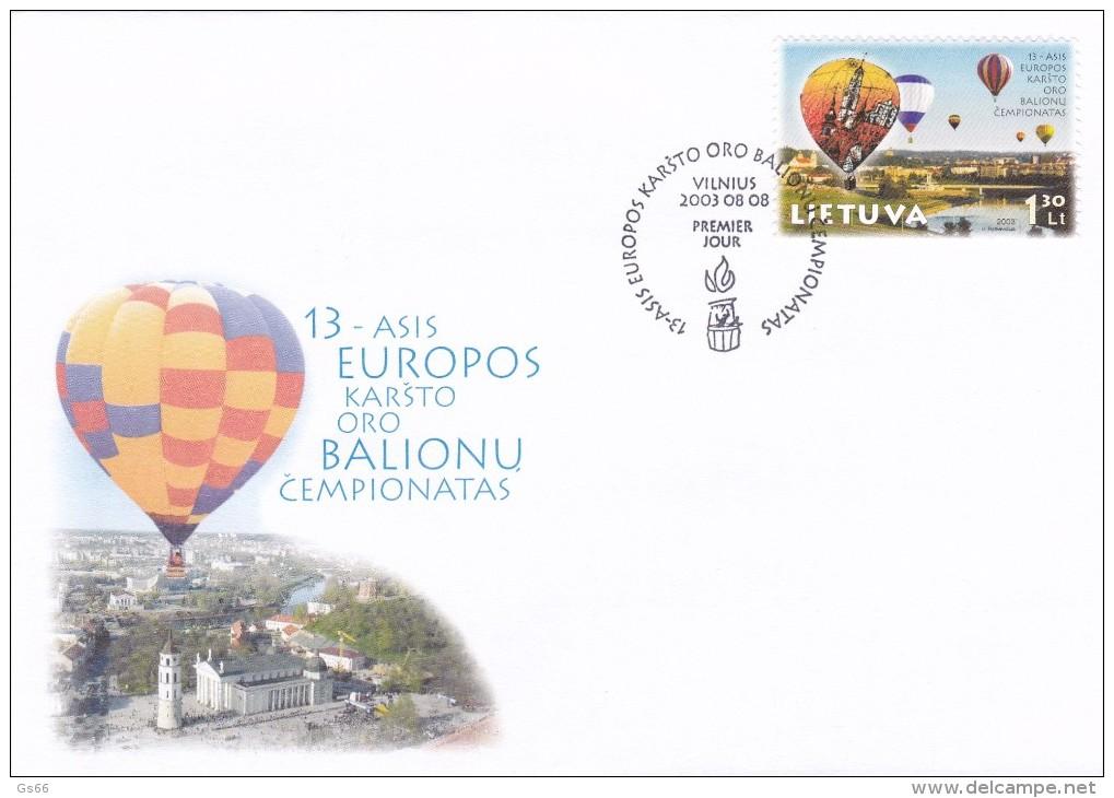Litauen, 2003, 826,  Heißluftballon-Europameisterschaften, Vilnius (Wilna). FDC - Lithuania