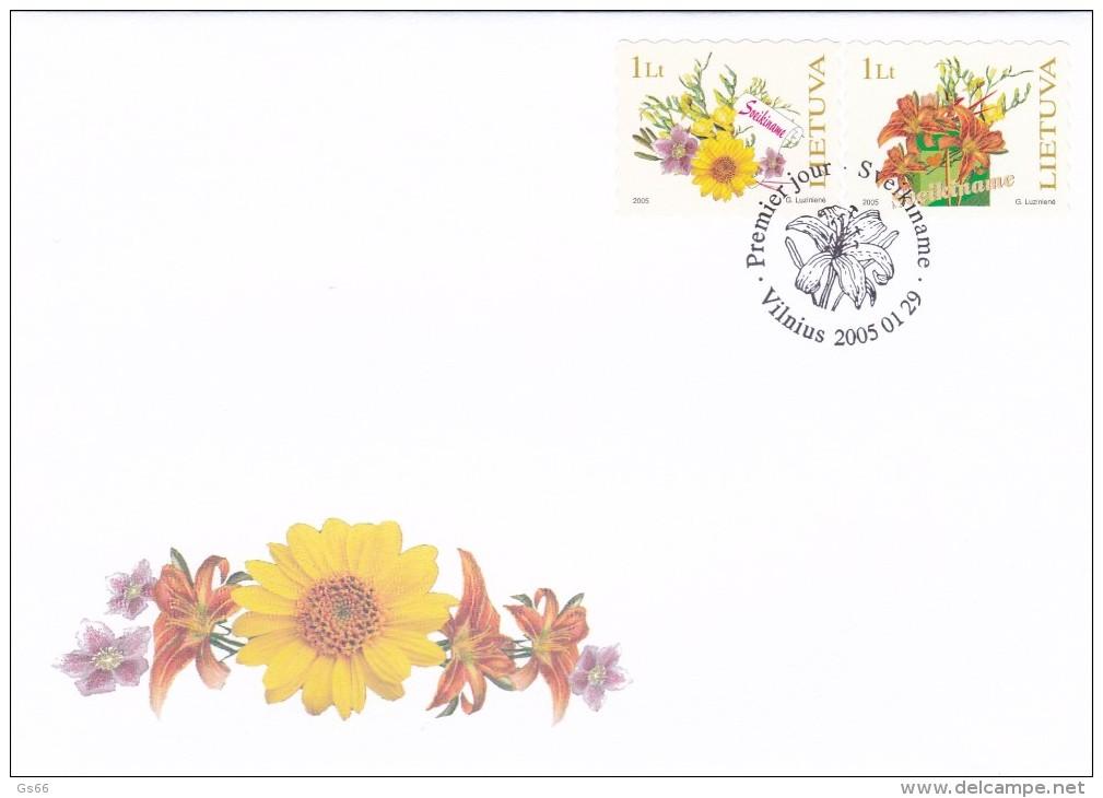Litauen, 2005, 866/67, Grußmarken. FDC - Lithuania