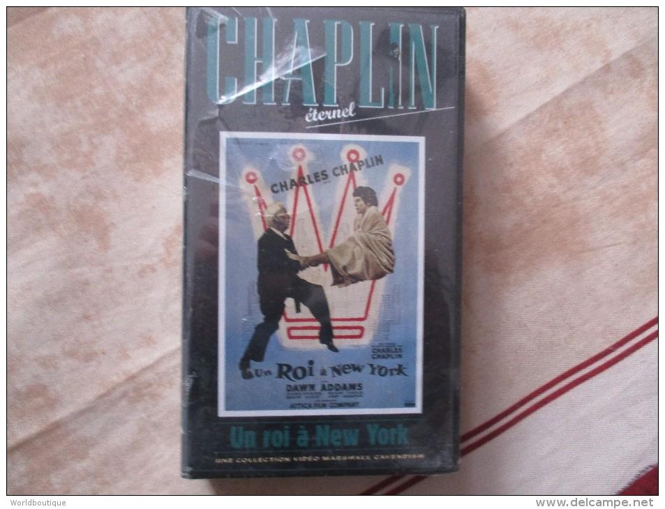 Cassette Video CHARLOT Un Roi A New York (k7 Neuve Sous Blister) - Classic
