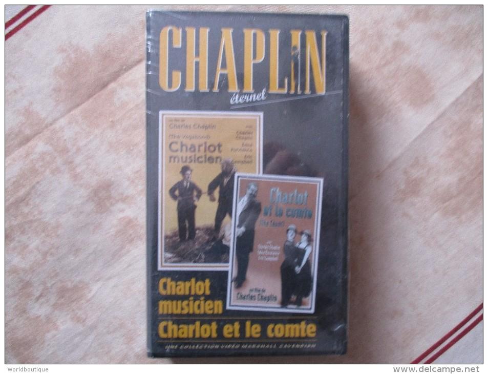 Cassette Video CHARLOT Charlt Musicien + Charlot Et Le Comte (k7 Neuve Sous Blister)charlie Chaplin - Classic