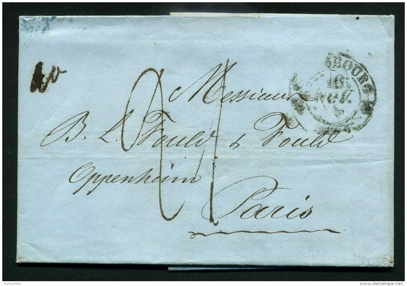 FRANCE : LETTRE  DE  STASBOURG  POUR  PARIS  DU  15  NOVEMBRE  1841 , A  SAISIR . - Marcophilie (Lettres)