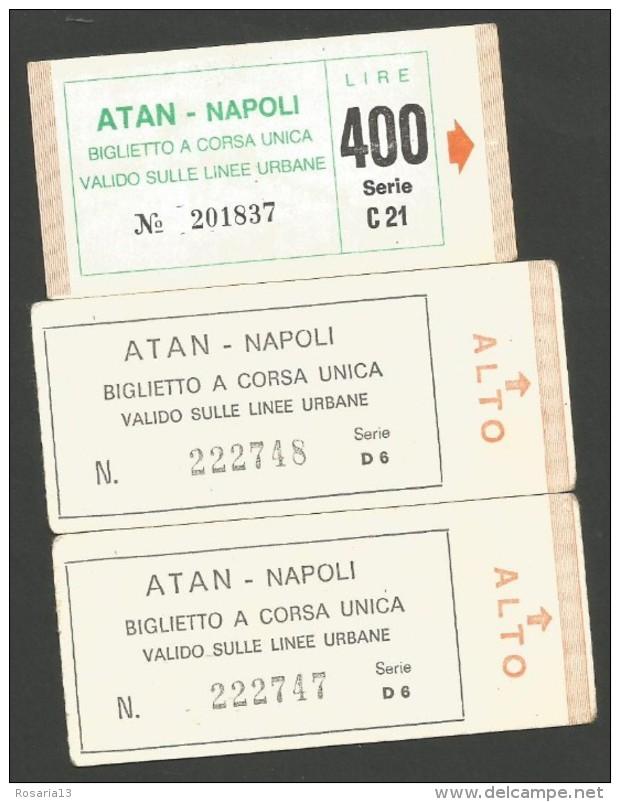 B2V5--  ITALIA, VARIE,  BIGLIETTI   TRAM,  PEZZI TRE NUOVI, - Tram
