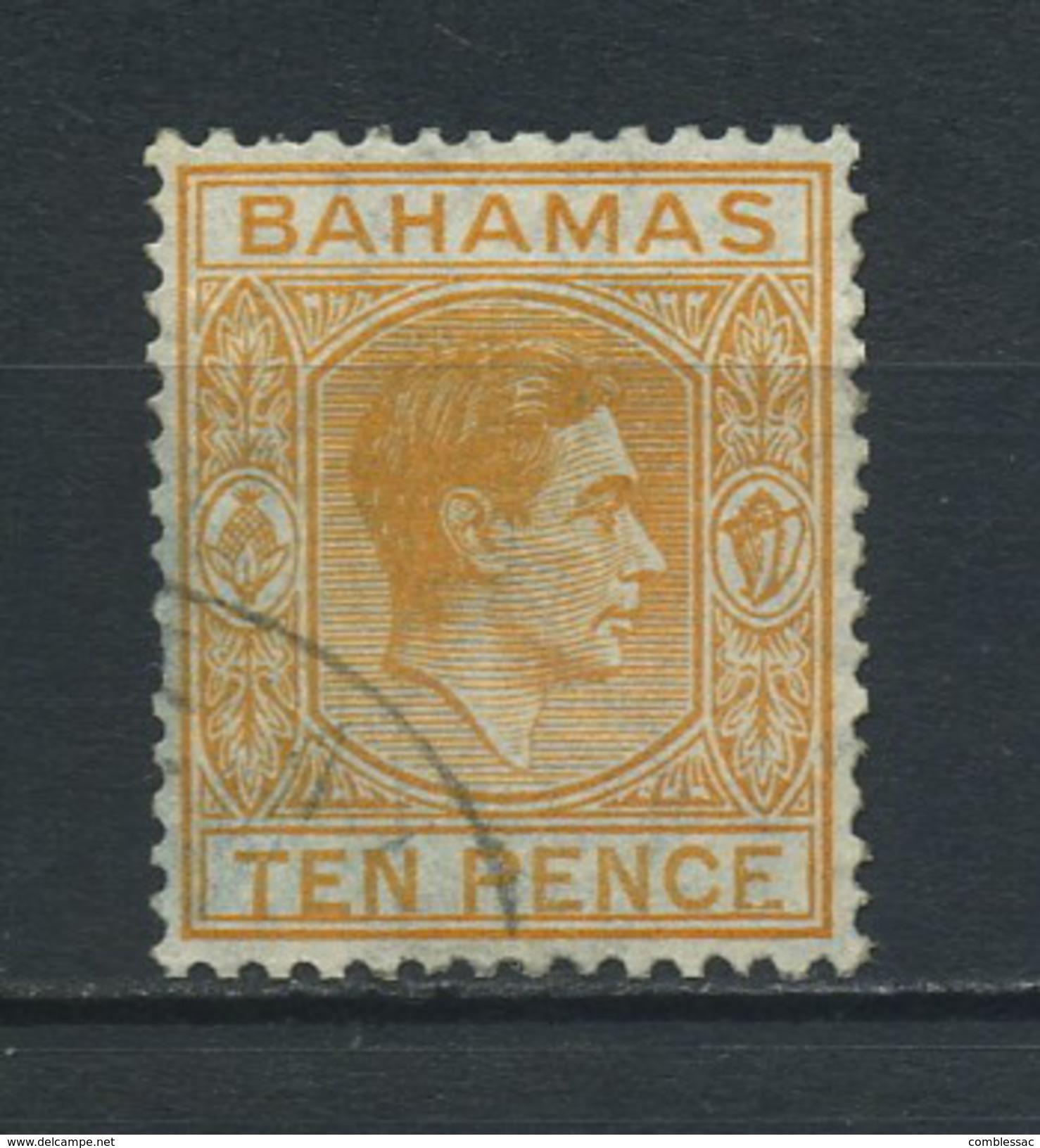 BAHAMAS    1938   10d  Yellow  Orange    USED - Bahamas (...-1973)