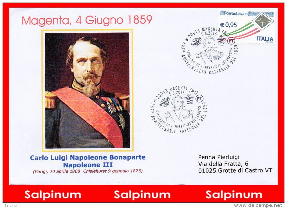 ANNULLO ANNIVERSARIO 157° BATTAGLIA MAGENTA - 6. 1946-.. Repubblica