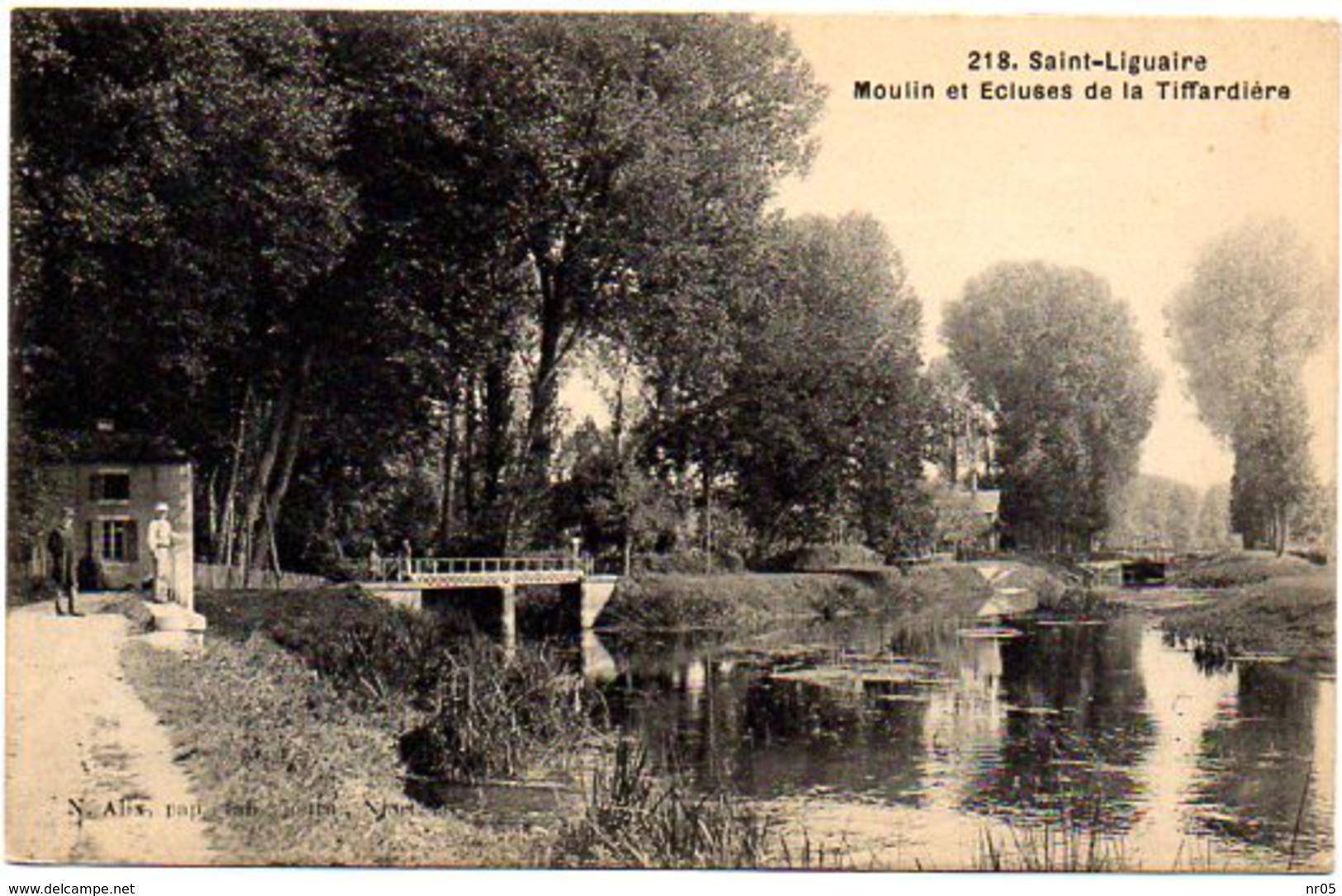 CPA 79 ( Deux Sevre ) - SAINT LIGUAIRE - Moulin Et Ecluses De La Tiffardière - France