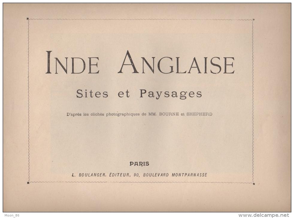 INDES ANGLAISE  - 8 AQUARELLES - Fascicule COMPLET - SITES ET PAYSAGES - Books, Magazines, Comics