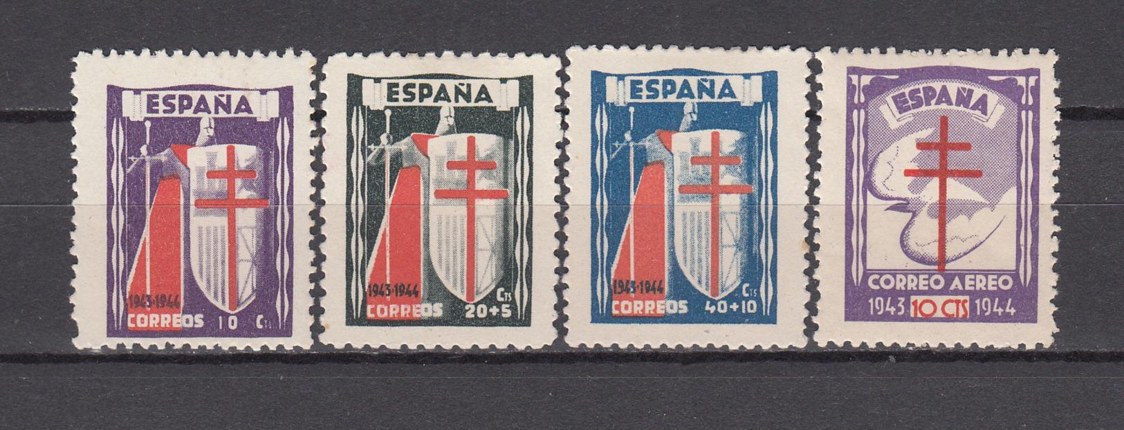1943   EDIFIL  Nº 970 / 973  / * / - 1931-Today: 2nd Rep - ... Juan Carlos I