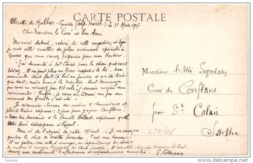 06 GRASSE - Monument Chiris (Maubert Statuaire)   (Recto/Verso) - Grasse
