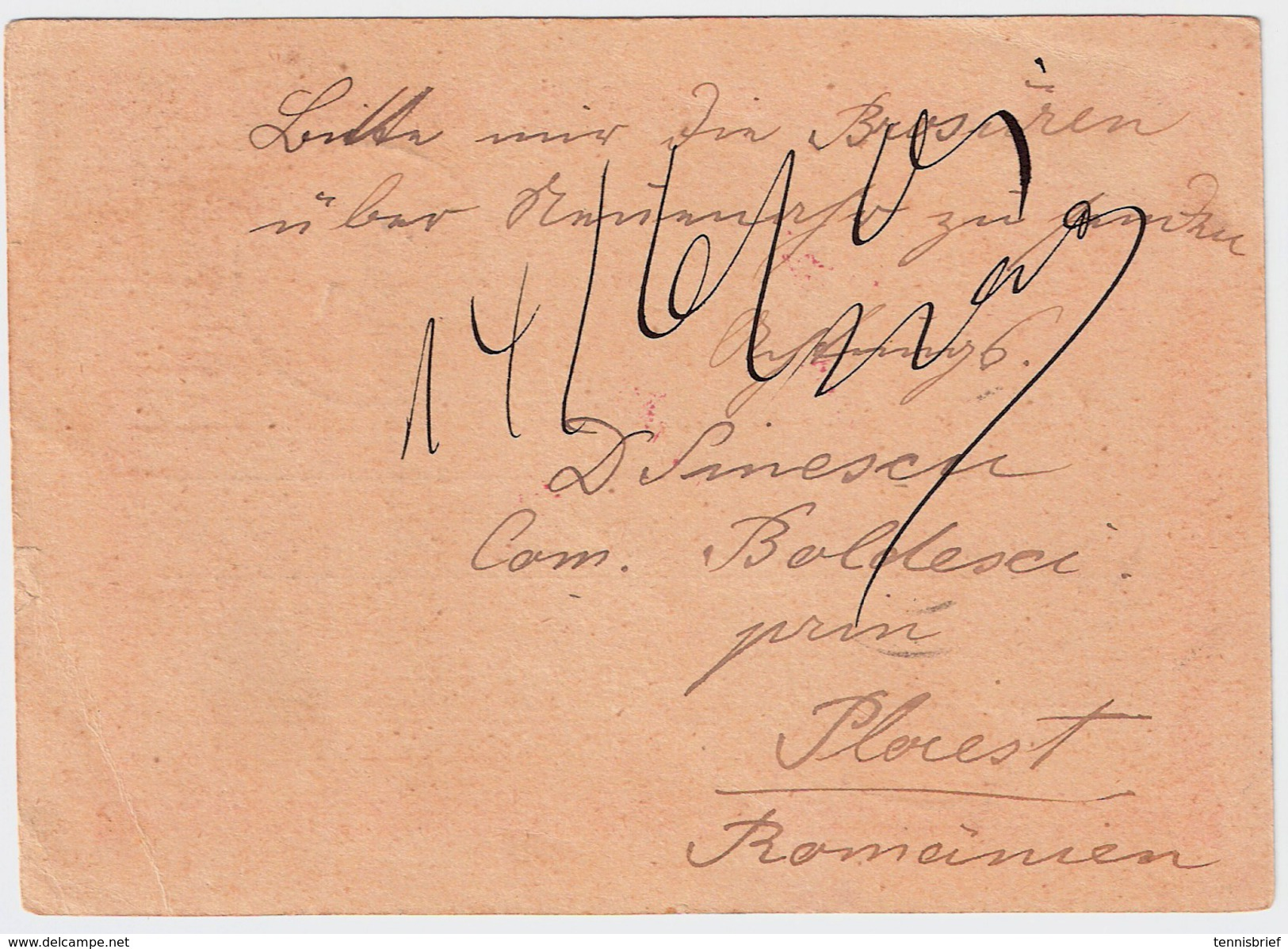1901, Roter Stempel! Auf GA , #6257 - Covers & Documents