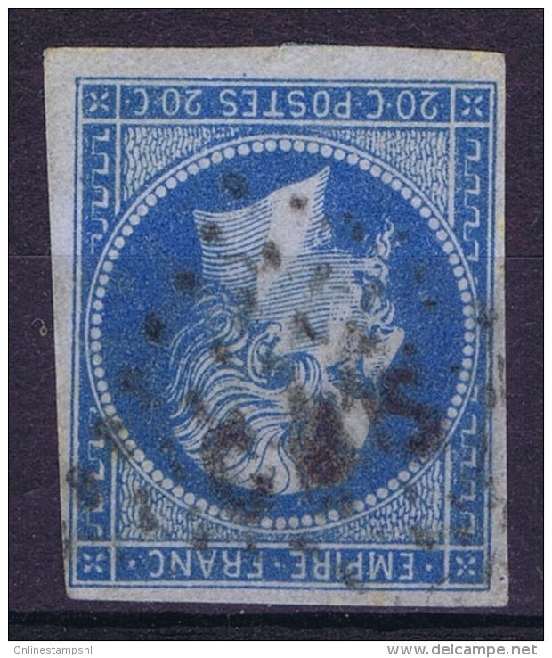 France: Yv  14 Cachet  CAS Campe De Satonay Lyon - 1871-1875 Ceres