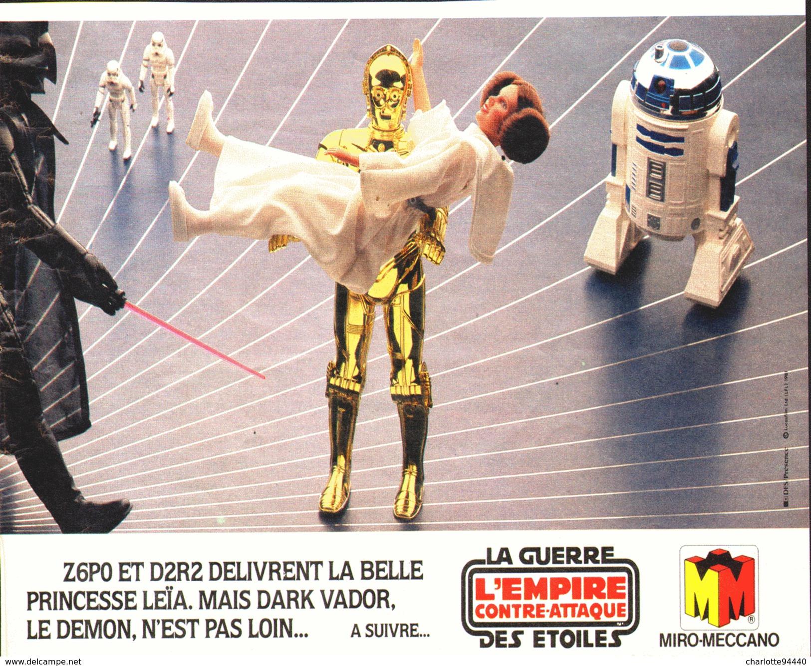 """PUB FIGURINES  """" LA GUERRE DES ETOILES """" """" L'EMPIRE CONTRE-ATTAQUE """" 1982 (5) - First Release (1977-1985)"""